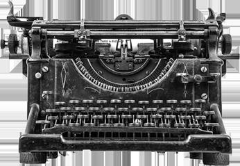 Lo studio dell'investigatore - Macchina per scrivere